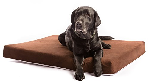 Dog Bed – Orthopedic Memory Foam Extra Large with Durable Waterproof Liner and Removable Designer Chocolate Brown Washable Cover. The Smokey Dog Co. Best Therapeutic Pet Beds for Big Breed Dogs Review