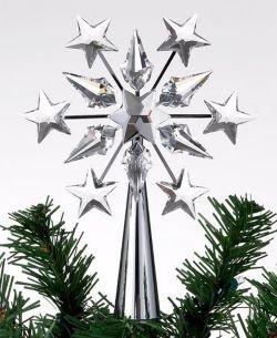 Amazon.com: Swarovski Crystal & Chrome Star Christmas Tree Topper ...