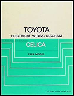 1982 toyota celica electrical wiring diagram manual original paperback –  1982
