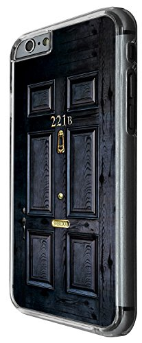 1564 - Sherlock Door Design iphone 6 6S 4.7'' Hülle Fashion Trend Case Back Cover Metall und Kunststoff -Clear