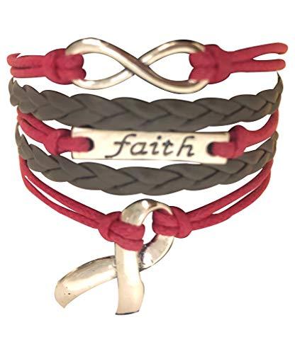Cancer Awareness Pink Ribbon Bracelet, Faith Bracelet, Infinity Bracelet & Autism Awareness, Makes The ()