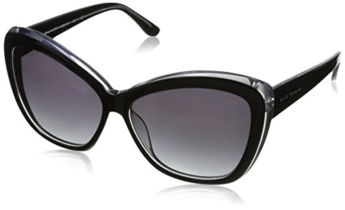 Elie Tahari Women's EL118 Cateye Sunglasses, Black Over Crystal, 60 - Sunglasses Elie Tahari
