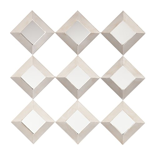 Masada Mirrored Squares Wall - Shaped Frames Face Diamond For