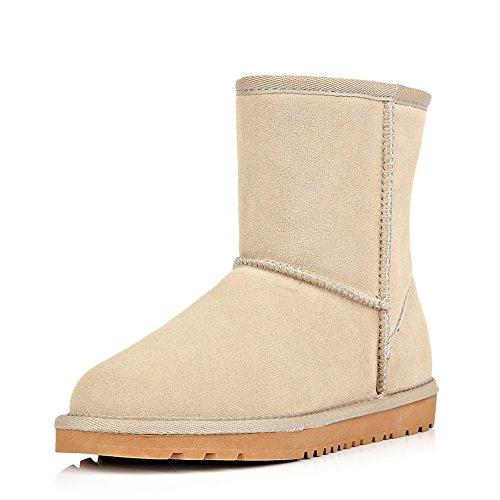 Wevans Mens Cool Suede Snow Winter Boots Beige