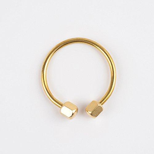 Jzcky Shzrp Brass Screw Lock Keychain, Horseshoe Key Chain Keyring Keyholder (Horseshoe Key Ring)