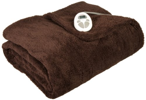 Sunbeam LoftTech Heated Blanket, Twin, Walnut, - Blanket Sunbeam