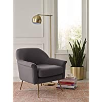 Elle Decor UPH10060D Ophelia Accent Chair, Charcoal