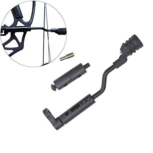 (ZSHJG Compound Bow String Stop Bracket Decelerator Rod Vibration Archery Stabilizer Balance Suppressor Mount Silencer (Style)
