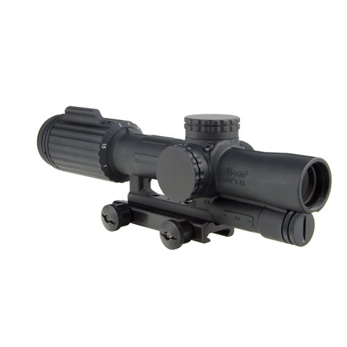 Trijicon VC16-C-1600046 Vcog 1-6x24mm Green Segmented Riflescope, Circle/Crosshair .300 Blackout Ballistic Reticle with Thumb Screw Mount, Black