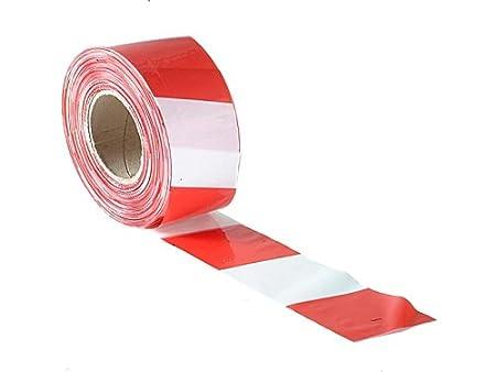 Faithfull 5023969223711 - Cinta de seguridad (70 x 500 m), color rojo y blanco