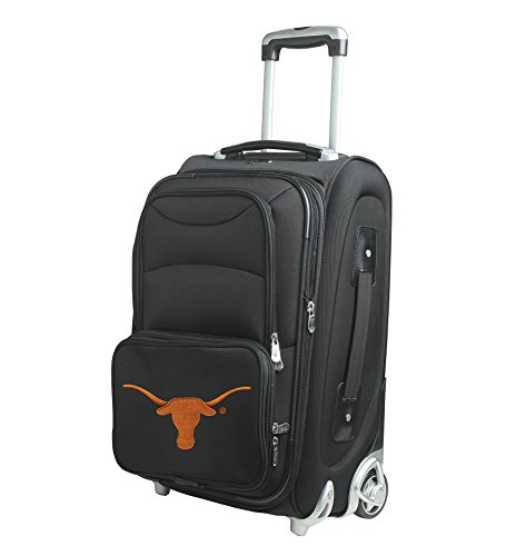 NCAA Texas Longhorns In-Line Skate Wheel Carry-On Luggage, 21-Inch, (21' Expandable 2 Wheel)