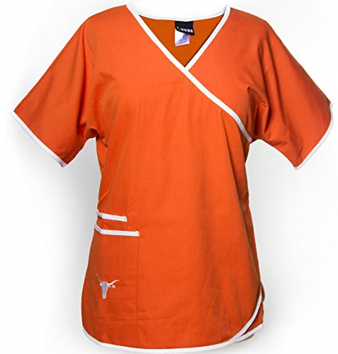 University of Texas Longhorns Women's Mock Wrap Scrub Top ()