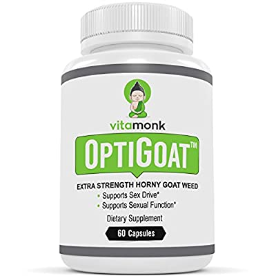 OptiGoat™ - Top Rated Horny Goat Weed Extract by VitaMonk - Standardized for Icariin - Pure Horny Goat Weed Supplement - Promotes Healthy Sex Drive, Stamina