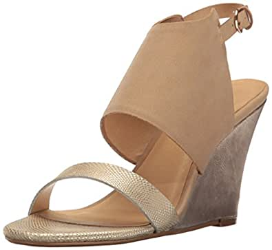 CL by Chinese Laundry Women's Baja Snake Wedge Sandal, Gold/Multi, 6 M US