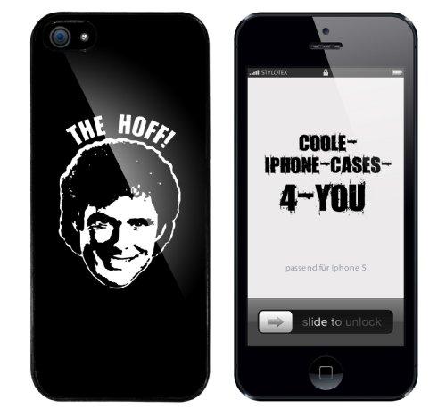 Iphone 5 Case The Hoff Rahmen schwarz