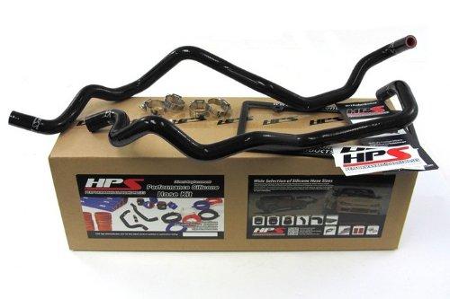 57-1220H-BLK HPS Black Silicone Heater Hose Kit for Jeep Wrangler JK