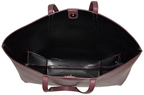 PIECES Damen Pcnoella Shopper Schultertasche, 13x37x49 cm Rot (Port Royale)