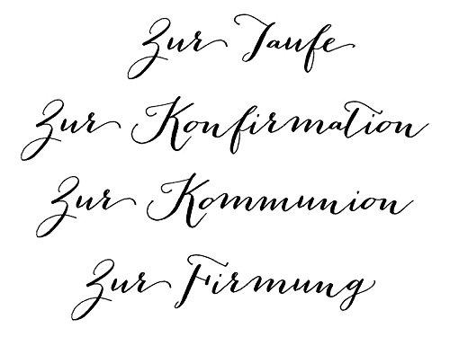 Clear Stamp-Set Stempel-Gummi Karten-Kunst Gro/ße WorteChristlich