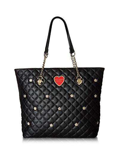 Betsey Johnson Women's Chain Shopper Black One Size