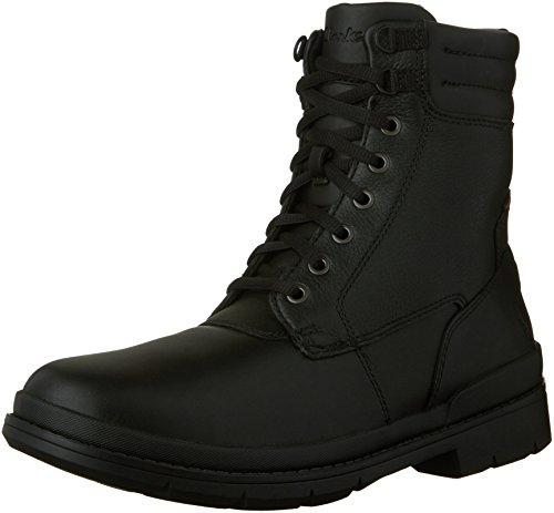 Clarks , Herren Stiefel Black Leather - Warm Lined