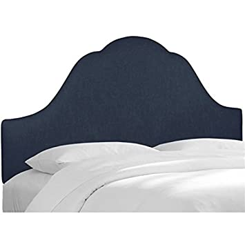 Pemberly Row Upholstered Twin Panel Headboard in Navy