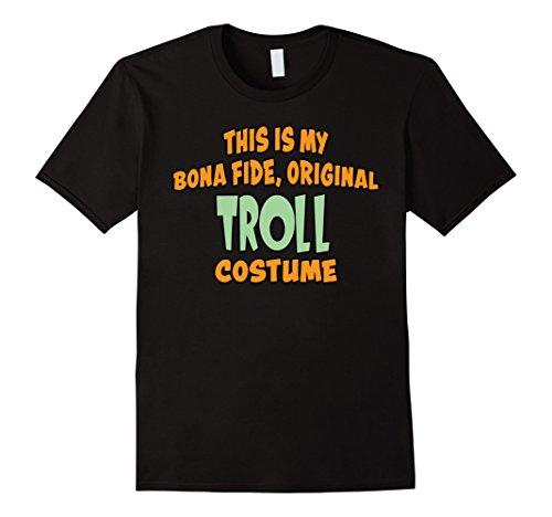 Mens Bona Fide Original Troll Costume Last Minute Shirt Large Black