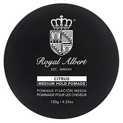 Royal Albert - Pomade Fijación Media CITRUS (Lima-Limon) - Pomada Base Agua - 120g / 4.23oz - Libre de Sulfatos y Alcohol -...