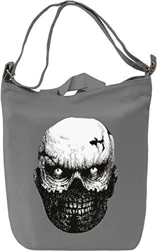Crazy zombie head Borsa Giornaliera Canvas Canvas Day Bag| 100% Premium Cotton Canvas| DTG Printing|