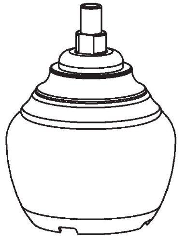 Lavatory Chrome Faucet 2h (Moen 100557 Part Handle, Monticello Widespread Two Handle Cross Lavatory & Bidet)