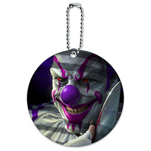 Mischief the Evil Purple Clown Round Luggage ID