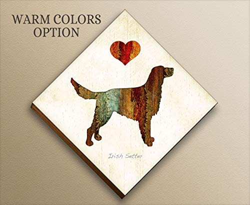 Irish Setter Dog Diamond Shaped Mounted Art Print by Dan Morris