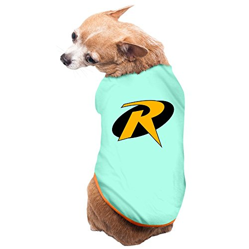 Nerd Robin Logo Pet Dogs 100% Fleece Vest T Shirt SkyBlue US Size S (Vest Robin)