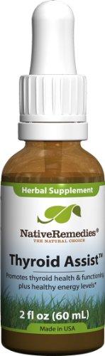 Native Remedies thyroïde Assist pour soutenir leur fonctionnement thyroïdien sain (60ml)