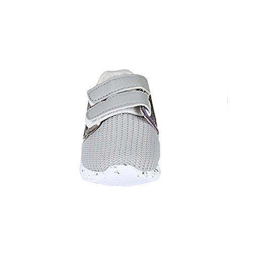 Basket souple - bébé - gris militaire