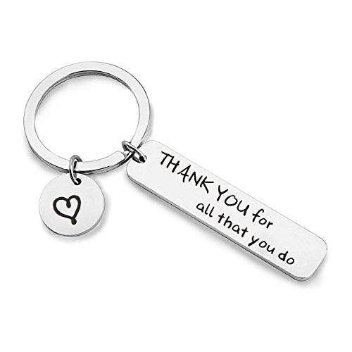 MAOFAED Appreciation Gift Thank You For All That You Do Cuff Bracelet Thank You Gift for Nurse Teacher Coach Employee (Thank you Keychain) by MAOFAED (Image #5)'