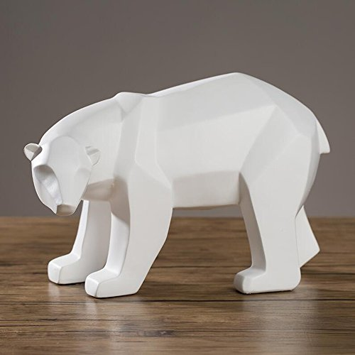 MLMHLMR Modern Minimalist Home Office Decoration Soft Decoration Resin Creative Crafts Diamond Shaped Polar Bear Crafts (Size : 28.517.518CM) (Polar Crystal Sculpture)