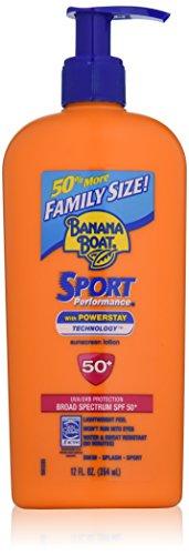 Banana Boat Sunscreen Sport Family Size Broad Spectrum Sun Care Sunscreen Lotion – SPF 50, 12 ounce