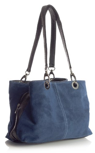 Nero Shop donna Borse a Navy medio spalla Blu Handbag Big wFz4fgxqP5
