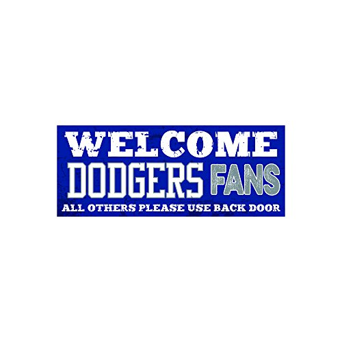 Artistic Reflections Welcom Sports Fans 4 x 10 Wood Plaque (DODGERS)