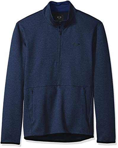 Oakley Men's Half Zip Golf Fleece, Dark Blue Medium Heather, - Jacket Golf Oakley Half