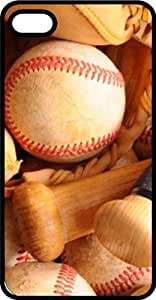 Baseball Bat Glove & Ball Black Rubber Case for Apple iPhone 4 or iPhone 4s