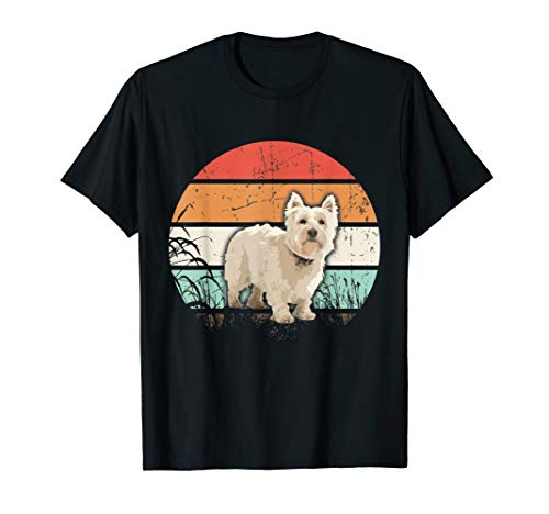 Vintage Retro Cairn Terrier Sunset Dog Lover T-Shirt
