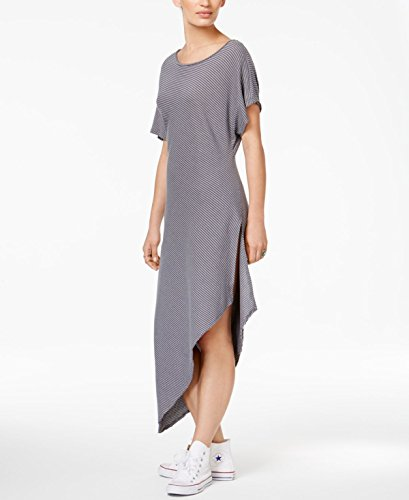 Free People Womens Striped Asymmetrical Casual Dress Gray M from Free People