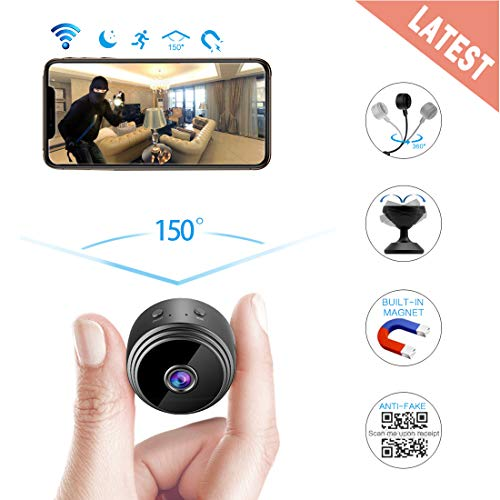 AREBI Spy Camera Wireless Hidden WiFi Camera HD 1080P Mini Camera Portable Home Security Cameras Covert Nanny Cam Small Indoor Video Recorder Motion Activated/Night Vision A10 Plus [2019 Upgraded]
