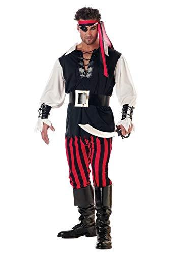 Adult Cutthroat Pirate Costume X-Small Black ()