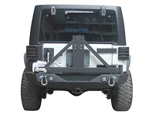 u-Box 2007-2018 Jeep JK Different Trail Rear Bumper w/Tire Carrier & 2