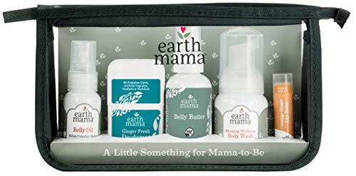 A Little Something for Mama-to-Be Gift Set by Earth Mama | Natural Pregnancy and Maternity Gift for Expectant Mothers, 5-Piece Set (Best Organic Products For Pregnancy)