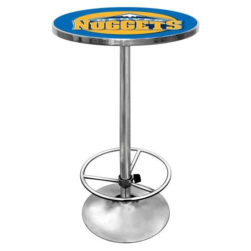 NBA Denver Nuggets Chrome Pub Table (Nugget Pedestal)