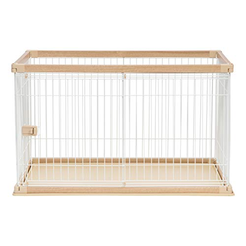 IRIS Large Wire Open Pet Pen, Brown/White