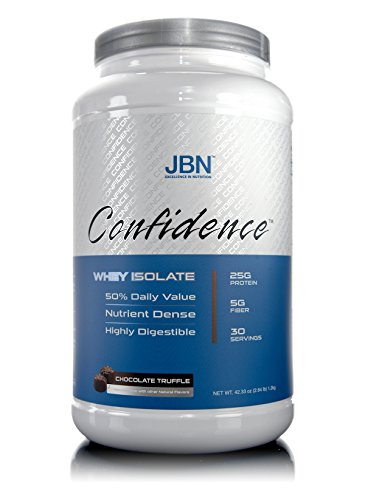 (Confidence by JBN 100% Whey Isolate Protein Powder Mix - 5 Grams of Fibersol - Great Tasting - Easily Digestible - High Purity & Potency - Great For Weight Loss (Chocolate Truffle, 30 servings))